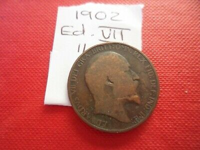 1902 Edward Vii Halfpenny Coin - Please See Photo's For Idea Of Condition