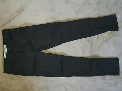 Boys Skinny Fit Black Jeans 9-10 Yrs