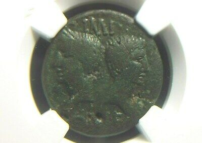 AE Dupondius of Emperor Augustus from city of Memausus in Gaul NGC Certified