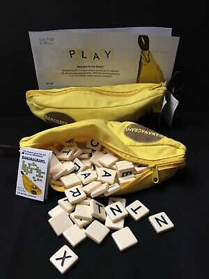 2 sets Bananagrams Family Word Game - One Tile AWOL - Great Used Condition