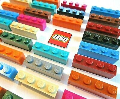 Lego Genuine Pack of 40 plates 1x6 Part number 3666 Choose your colour JOB LOT