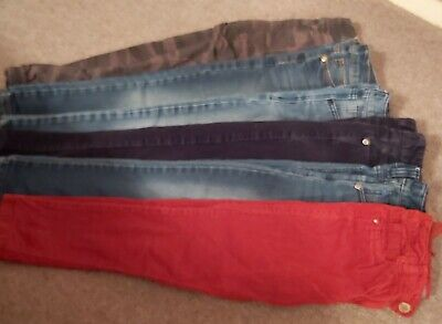 Boys Jeans Denim Jersey Soft Stretch Cords Bundle, 7 Years, Next Good Condition