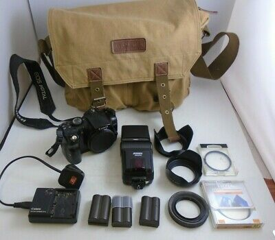 Canon EOS 300D Model DS6041 Digital Camera With Jessops 360AFDC Flash AND MORE