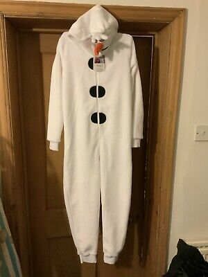 Disney Frozen Olaf Snowman 1Onesie/All In One Outfit/Fancy Dress Up Age 9/10 M&S