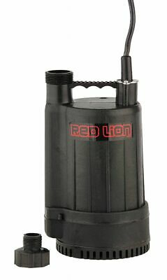 Red Lion Plug-In Utility Pump,  HP 1/6,  Body Material ABS,  Max. Head 25.0 ft.
