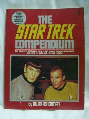 THE STAR TREK COMPENDIUM Comlete Reference Book 1986 First Pocket Book Edition
