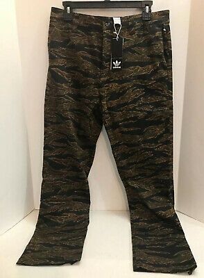 Adidas Skateboarding Camochinos Pants Camo Men's Size 30/32 Tiger DH6656 NWT $75