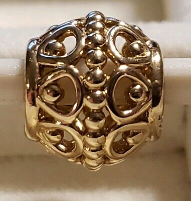 Authentic Pandora Gilded Cage Charm/Bead 14K Gold 585 ALE 750458