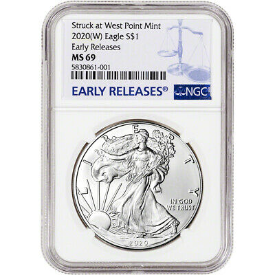 2020-(W) American Silver Eagle - NGC MS69 - Early Releases
