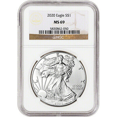 2020 American Silver Eagle - NGC MS69