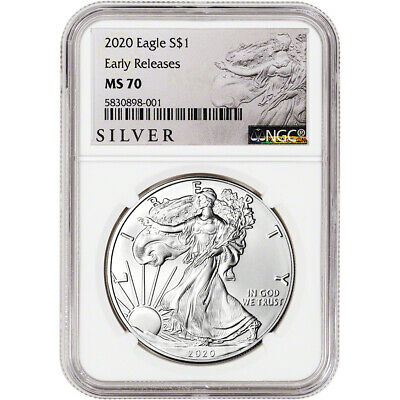 2020 American Silver Eagle - NGC MS70 - Early Releases - ALS Label