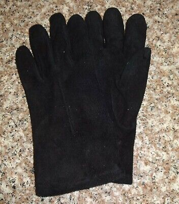 Fownes Vintage Black Suede Leather Driving Gloves Women's Size L