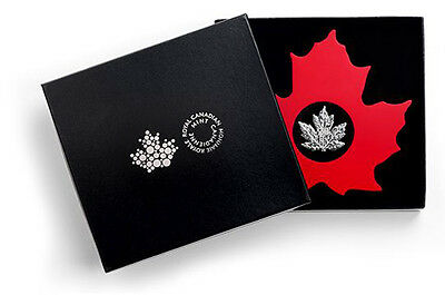 Canada 2015 Maple Leaf Shaped $20 Pure Silver 1 Oz Proof Coin-A World 1St!