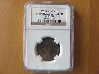 1895 Canada One Cent Ngc Xf45 Bn 1C Sinnathuray Collection