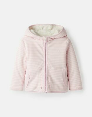 Joules Baby Cosette Reversible Printed Jacket - PINK CREAM STRIPE