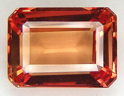 5,97CT. TRES BEAU LUSTRE T. EMERAUDE 11,6x8,7 MM. SAPHIR ORANGE DE SYNTHESE