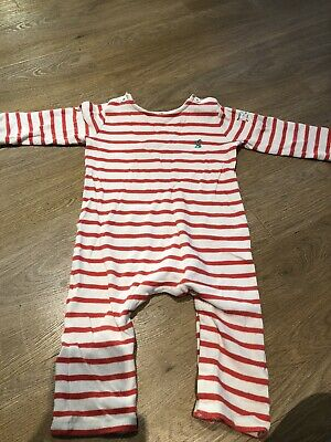 Joules 204664 Mock Layer Romper Suit in MULTI STRIPE