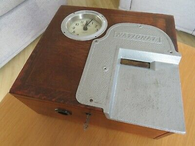 Vintage Office Clocking on Machine by National, working, in good order Rare Item