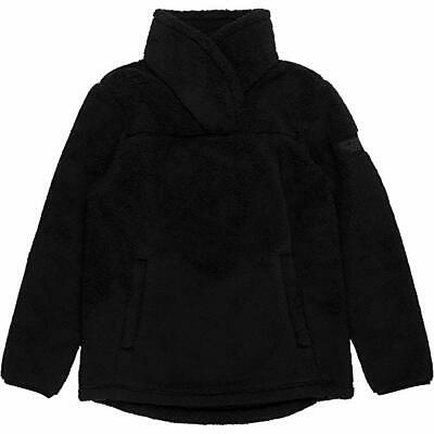 The North Face Youth Girls' Campshire Sherpa Fleece Pullover Black Medium 10/12