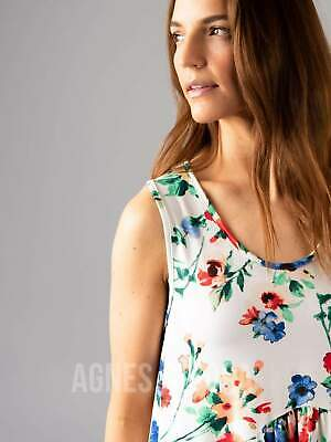 Agnes & Dora™ Sleeveless Muse Ivory/Red Floral