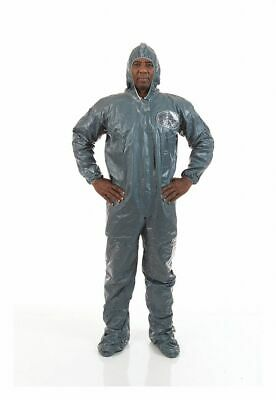 Hooded Chemical-Resistant FR Coveralls with Elastic Cuff, Pyroguard® CRFR
