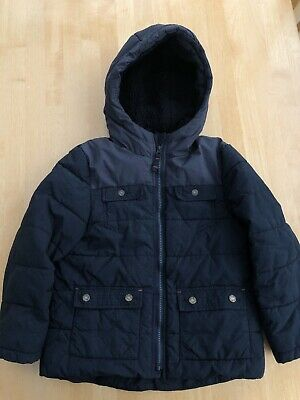 Boys Fat Face Black Winter Coat Age 6-7 Years Used But In Excellent Condition