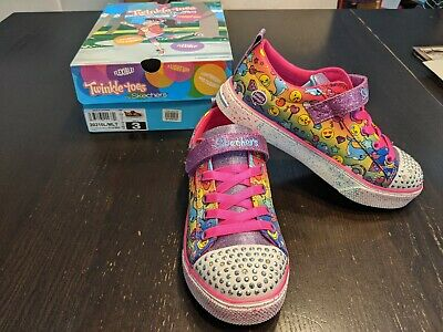 NIB Twinkle Toes By Skechers Stylish Smiles Girl's Sneakers Size 3