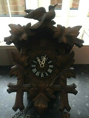 Wooden German cuckoo clock
