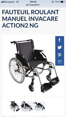fauteuil roulant pliable Invacare Action 2 Ng Neuf