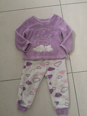 Girls Fleece PJ's pyjamas 3-4 Years