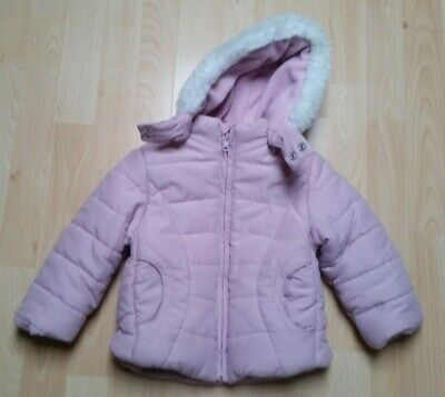 Adams Girls Pink  Padded Jacket Age 1-1.5 years