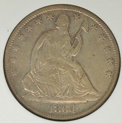 1864-S Capped Bust Half Dollar ANACS XF40- Light Attractive Tone, Civil War Era