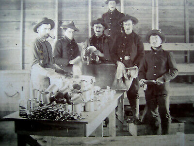 Great 1890's Photo Army Troops/Soldiers Doing Mess Duty