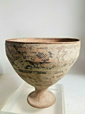 Ancient Mayan Pre-Columbian Footed Bowl With Decorations And Encrustations