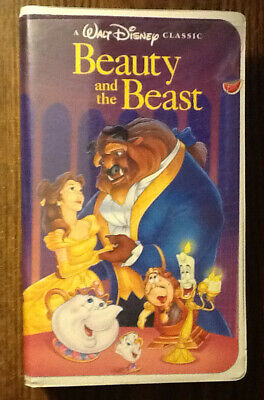 Walt Disney Beauty and the Beast VHS Fairy Tale Movie G 1992 Clamshell Kids *