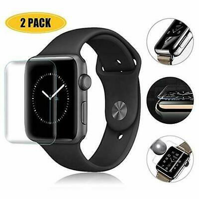 2X Apple Watch 5 4 3 2 1 3D Tempered Glass Full Screen Protector 38/42/40/44mm