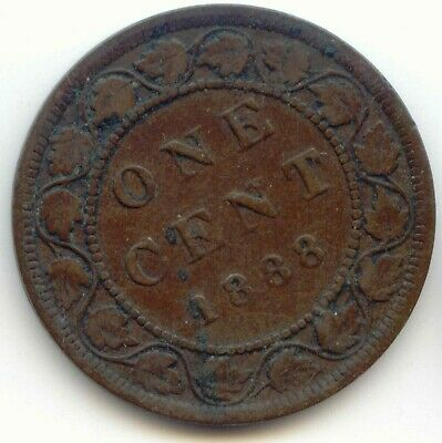 Canada 1888 1 Cent Coin Canadian Large Penny 1c EXACT COIN SHOWN