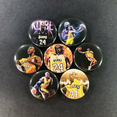 "Kobe Bryant 1"" Button Pin Set (7 Pins) Lakers NBA Basketball Black Mamba Sports"