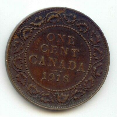 Canada 1918  1 Cent Coin Canadian Large Penny 1c EXACT COIN SHOWN