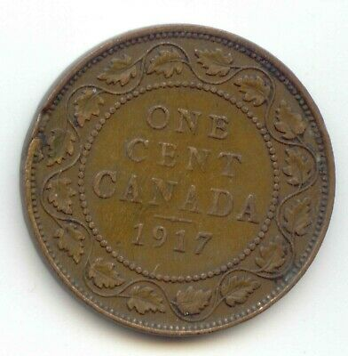 Canada 1917  1 Cent Coin Canadian Large Penny 1c EXACT COIN SHOWN