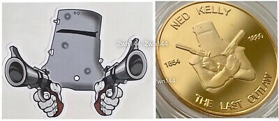 Ned Kelly Last Outlaw 1oz coin. Finished in 24k Australian Gold. COA. 2500 only!