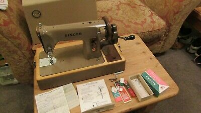 Vintage Singer Sewing Machine 275K with some accessories, original receipt etc