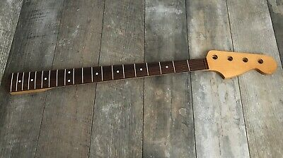 USA Spec Jazz Bass Neck - Rosewood Fingerboard - Vintage Tint