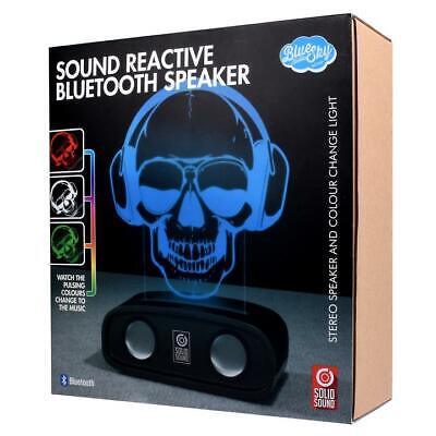 Sound Reactive Stereo Bluetooth Speaker - Skull - Lightshow