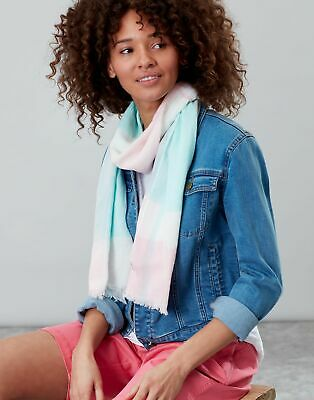 Joules Womens Talia Lightweight Cotton Scarf - LIGHT PINK CHECK in One Size