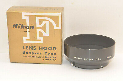 Nikon Lens Hood for Nikkor-Auto 5.0cm/1.4 or 5.8cm/1.4 Mint from Japan
