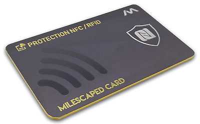 MILESCAPED v2 Anti-RFID/NFC Card – Contactless Bank Card Protection Anti-Pirate,