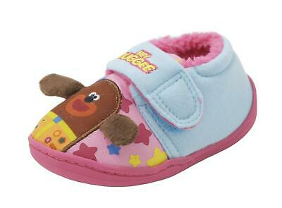 Childrens Kids Infants Hey Duggee Slippers Pink and Blue