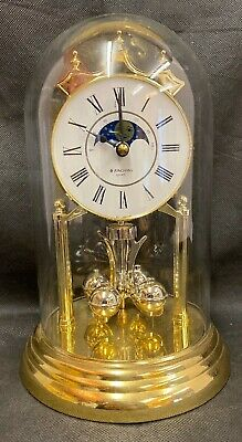 Junghans Anniversary Clock - Glass Dome - West Germany **Clocks Not Working (D1)