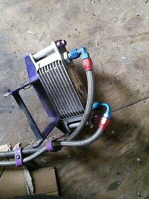 Ducati Monster M900 Oil cooler Matrix with Braided Pipes
